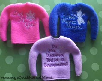elf sweaters set of 3