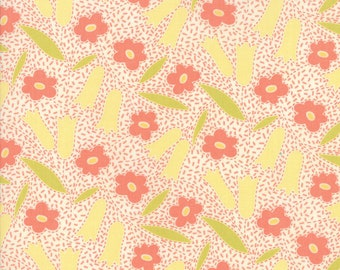 Ella and Ollie - Buttercups in Milk: sku 20301-16 cotton quilting fabric by Fig Tree and Co. for Moda Fabrics