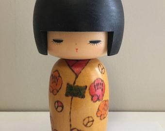 Japanese Kokeshi Wooden doll, Large Kokeshi doll.