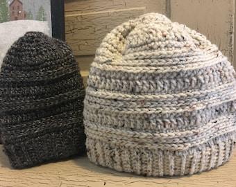 Womens Messy bun / ponytail hat
