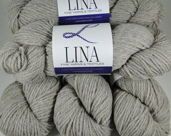 100% Wool Yarn, natural grey