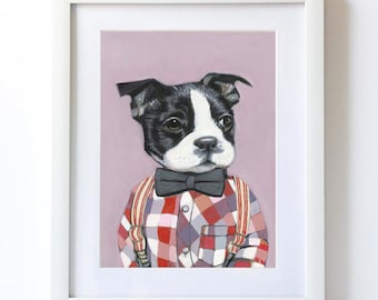 Charlie - Matte Print  - Dogs In Clothes by Heather Mattoon