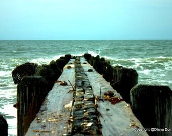 Beach Photography, Edisto Beach, Charleston SC, Pier Photos, South Carolina Beaches, Beach Wall Art, Pier Print, Beach Prints