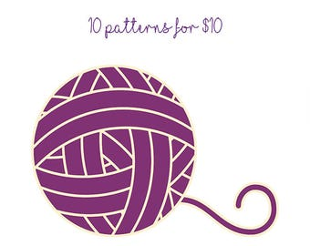 10 crochet or knitting patterns for 10 dollars -SALE