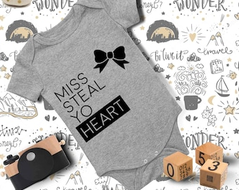 Baby Outfit/Miss Steal Yo Heart Onesie/ Baby Onesie/ Funny Baby Onesie/ Baby Girl Onesie/ Baby Boy Clothes/ Baby Shower Gift/ Baby Bodysuit