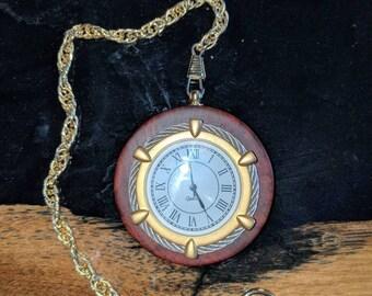 Wooden pocket watch