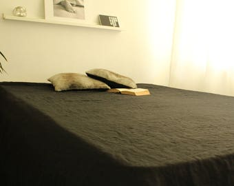 Black DUVET COVER handmade of 100% linen by FlaxBox