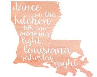Louisiana Watercolor Print