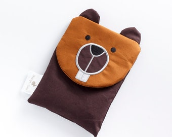 Boo boo bag, heating pad, baby gift, toddler gift, panda baby gift, beaver, christening gift, baby shower gift, neutral baby gift