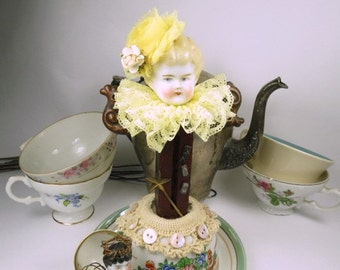 "Angel Assemblage Doll ""T 4 2"" Assemblage Art Doll, Fairy Doll"