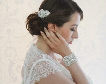 LEOLA Crystal and Ivory Pearl Bridal Hair Comb