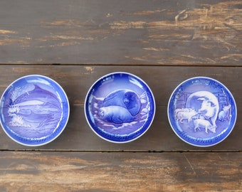 2000s Bing & Grondahl Mothers Day Plate Lot (3pcs)