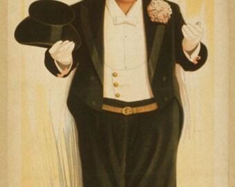 Caramel de Jollidog in the Merry Widow by Franz Lehar - poster for Burlesque version 1908 Weber's Theatre