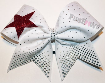 Awesome Star and Rhinestone Allstar Cheer Bow by FunBows !!