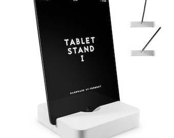 Tablet stand I//marble white