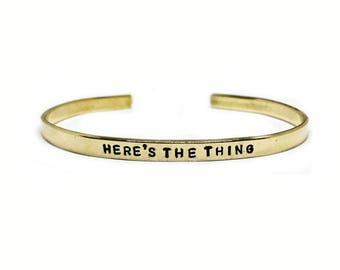 Here's The Thing / F*ck Everyone Handstamped Skinny Cuff // My Favorite Murder + Murderino Jewelry + MFM + Feminist Bracelet + SSDGM Gift