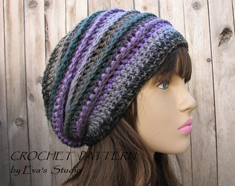 CROCHET PATTERN - Slouchy  Hat, Crochet Pattern PDF,Easy, Great for Beginners,  Pattern No. 33