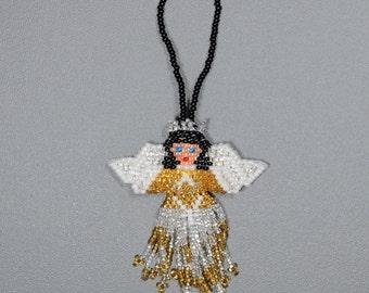 Hand Beaded Angel Ornament