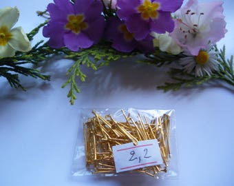 Lot 100 22 mm gold flat head nails