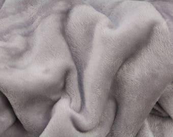 Alpenfleece grey gray, cuddly fleece