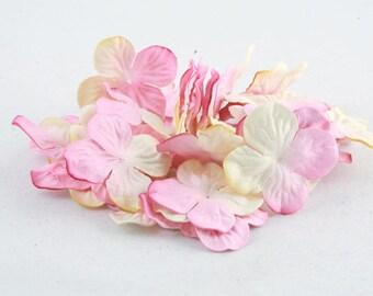 Cream And Pink Hydrangea Pbc119