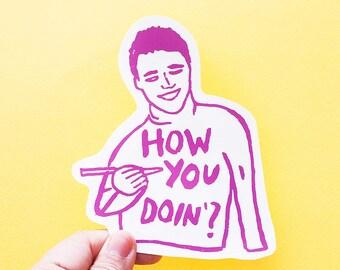 Joey Friends Big Individual WATERPROOF Sticker - Vinyl Stickers -Hand Drawn Sticker - Handmade Sticker
