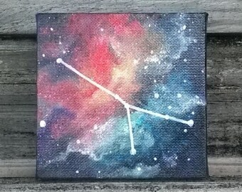 Custom Zodiac Constellation Galaxy Painting || Constellation Painting || Astronomy || Birthday Gift || Celestial Art
