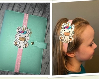 Unicorn planner band or girls head band. *Read instructions please*