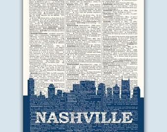Nashville Skyline, Nashville Poster, Nashville Decor, Nashville Print, Nashville Gift, Nashville Wall Decor, Nashville Tennessee