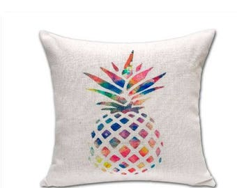 Tropical print PINEAPPLE mutlicolored Cushion cover