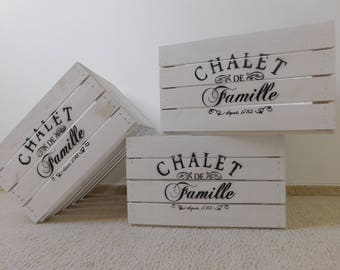 """Decorative white Obstkiste/wooden crate/crate in """"shabby Chic"""" * with imprint"""