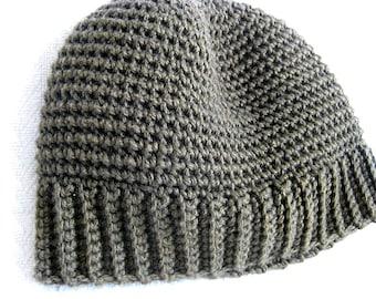 Men's Thermal Hat Crochet Pattern