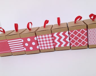 Red Paper Ribbon in Pattern of Your Choice