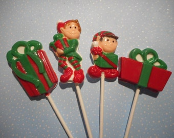 8 Pc. Christmas Elves and Presents Pops