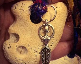 Goddess Hag Stone Wishing Pendant. Witch Stone, Faery Fairy Stone Protection