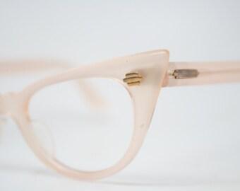 Light Pink cat eye glasses retro vintage