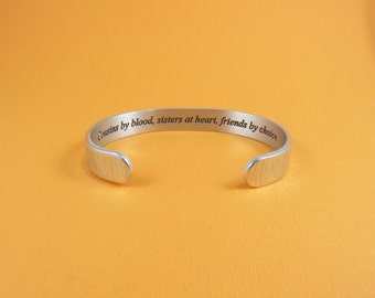 Cousins by blood, sisters at heart, friends by choice. ~ Cousin Gift / Bridesmaid Gift / Maid of Honor Gift / Birthday Gift ~Message cuff