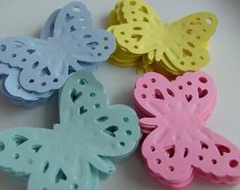 100,Pastel, Butterflies, card making , scrapbooking, confetti, pale pink, soft yellow, pale blue, mint green