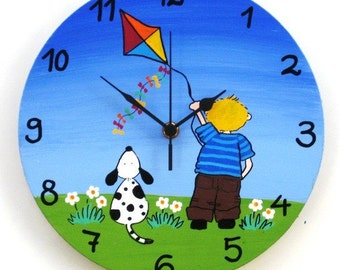Round Hand Painted Wall Clock
