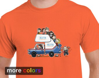 ARRESTED DEVELOPMENT Bluth Company Mens T-shirt, Buster Michael Tobias Gob Tee