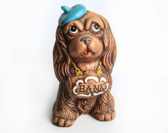 Treasure Craft Cocker Spaniel Coin Bank ~ Vintage Ceramic 1960's Piggy Bank ~ Dog Lover Collectible Coin Bank