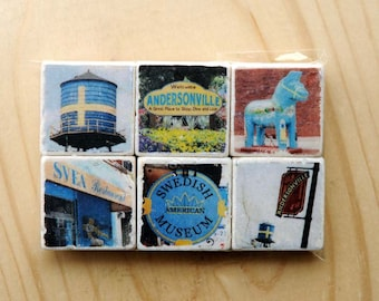 Andersonville Magnet Series - set of 6