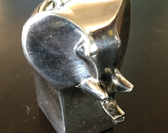 Vintage DANSK Silver Plated Zinc ELEPHANT Paperweight