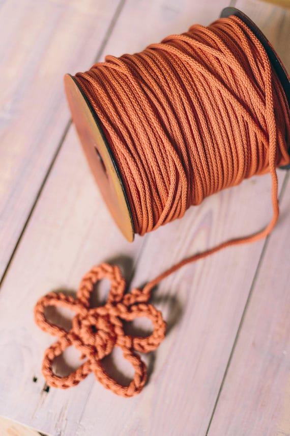DIRTY ORANGE cord, craft projects, chunky yarn,macrame cord, diy projects, crochet supplies, rope, knitting yarn, knitting supplies #47