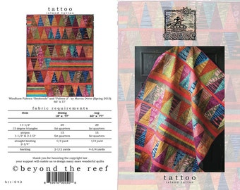 Tattoo from Beyond the Reef Patterns - Modern Quilt Pattern