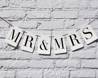 Mr. and Mrs. Rectangle Banner