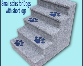 """Dog Steps, Small to Medium Dogs. Five steps, Dogs with short legs. 18 High"""" x 15 1/4  Wide"""" x 19 Deep"""""""