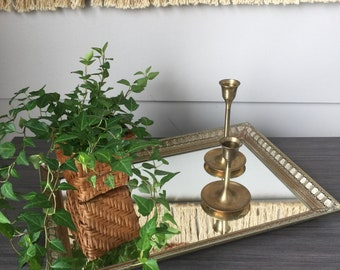 Brass mirrored tray