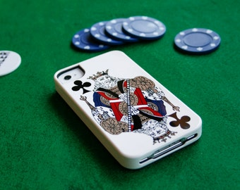 King iPhone 6 Case Playing Card iPhone 5S Case, Vintage King of Clubs , Samsung Gift for Men iPhone 6 Plus Case