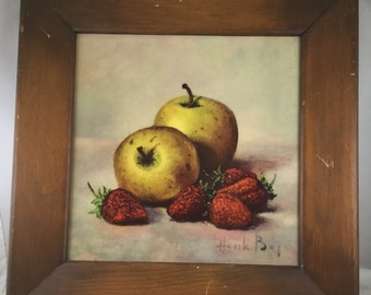3 Early American Fruit Prints